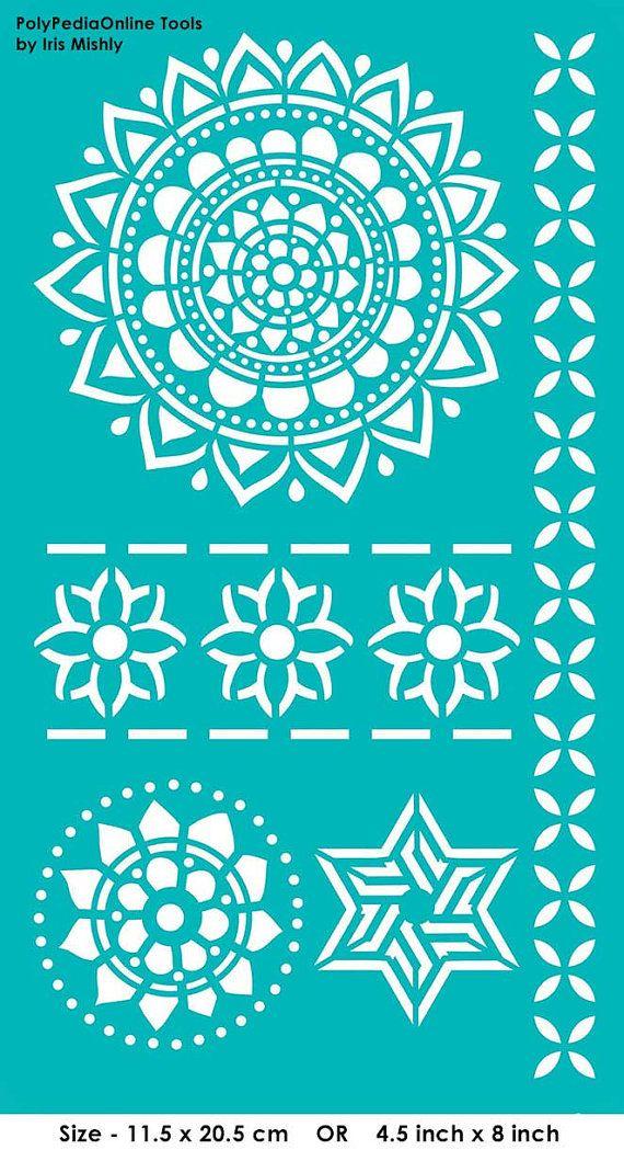 Stencil plantillas plantillas mandala flor estrella - Plantillas para la pared ...