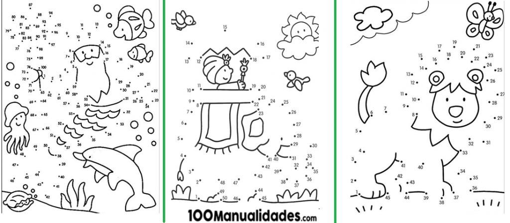 90 Dibujos Para Unir Puntos Del 1 Al 100 Material De Aprendizaje