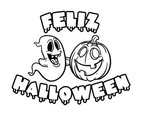 Dibujos De Halloween Para Colorear Manualidades