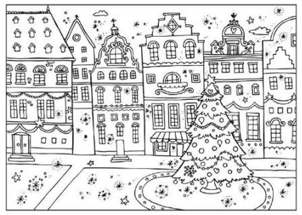 Dibujos De Navidad Para Imprimir. Navidad Para Colorear Paginas ...