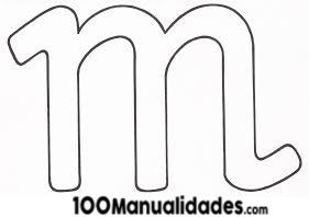 Imprimir Letra M Para Recortar Colorear Fichas De Letras