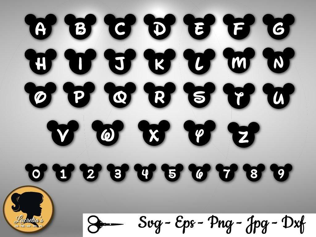 Letras De Mickey Mouse Para Imprimir