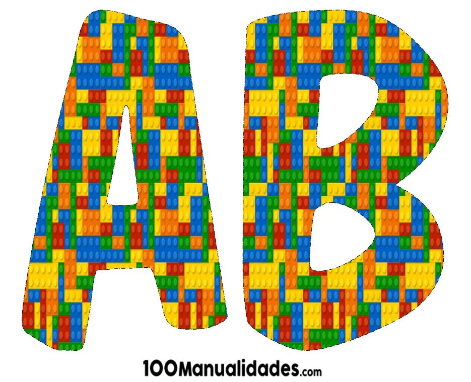 Abecedario De Letras Para Imprimir: Letras Alfabeto De Lego Para Imprimir Y Colorear