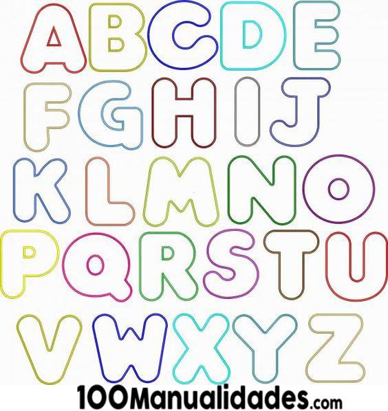 Resultado de imagen para letras para imprimir y recortar a color