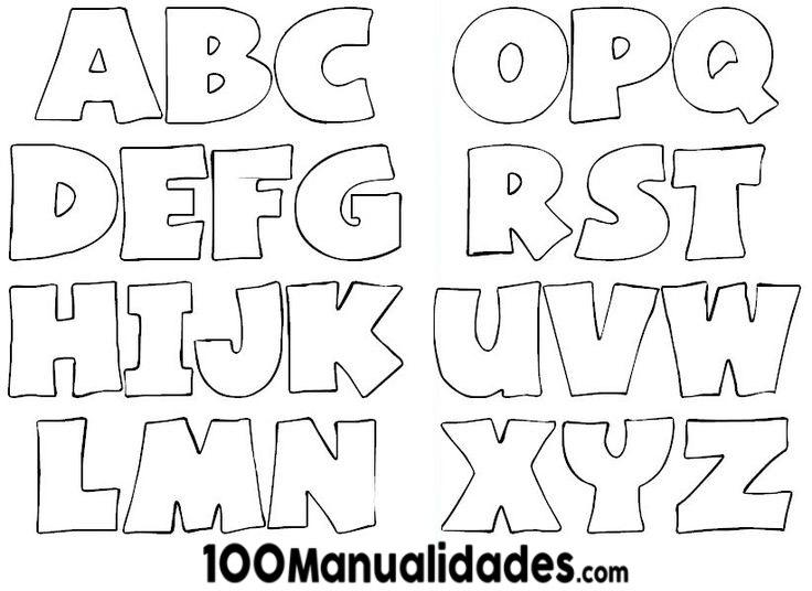 Moldes de letras Grandes Abecedario para imprimir