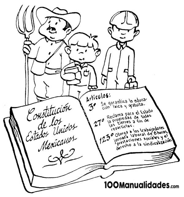 Constitucion Mexicana Para Colorear E Imprimir Primaria