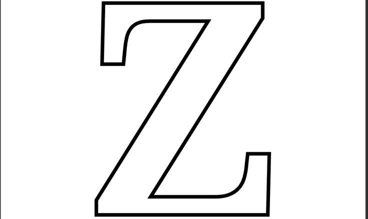 Imprimir Letra Z para Recortar Colorear... – Manualidades