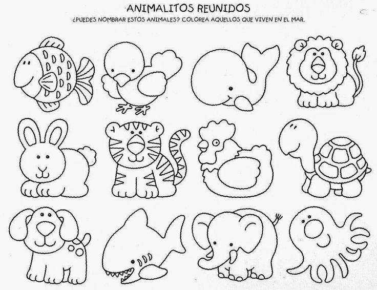 Famoso Hojas De Trabajo Para Colorear Para Kindergarten Gratis ...