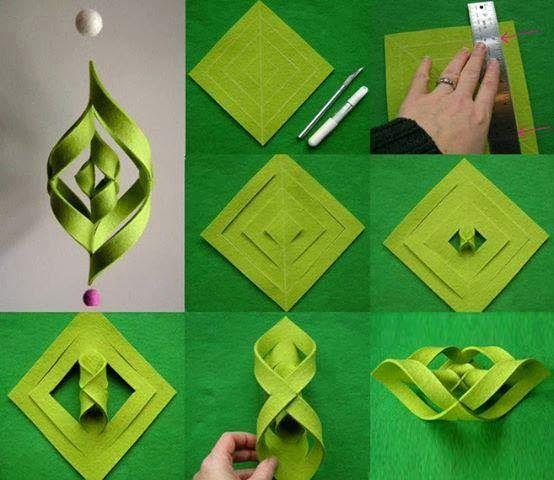 Una locura de ideas girnalda de papel fieltro o goma eva paso a paso manualidades - Manualidades de fieltro paso a paso ...