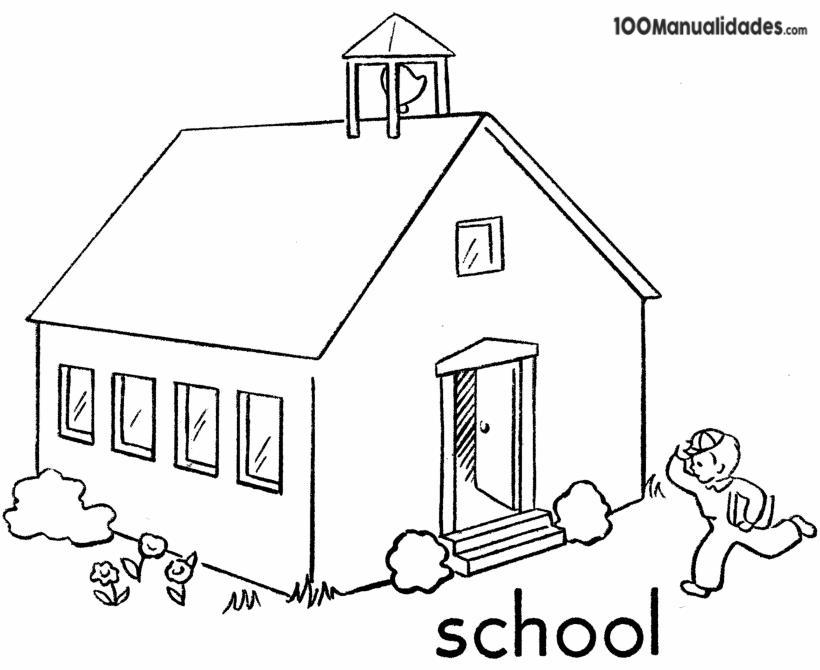 Dibujos De Colegios Para Colorear E Imprimir: Dibujo Escuela Infantil Para Colorear E Imprimir Dibujos