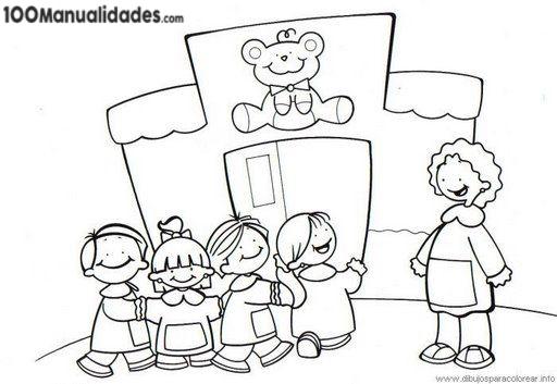 Dibujo Escuela Infantil para Colorear e imprimir Dibujos para Niños