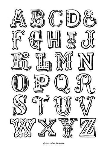 Moldes de letras para imprimir El Alfabeto pleto