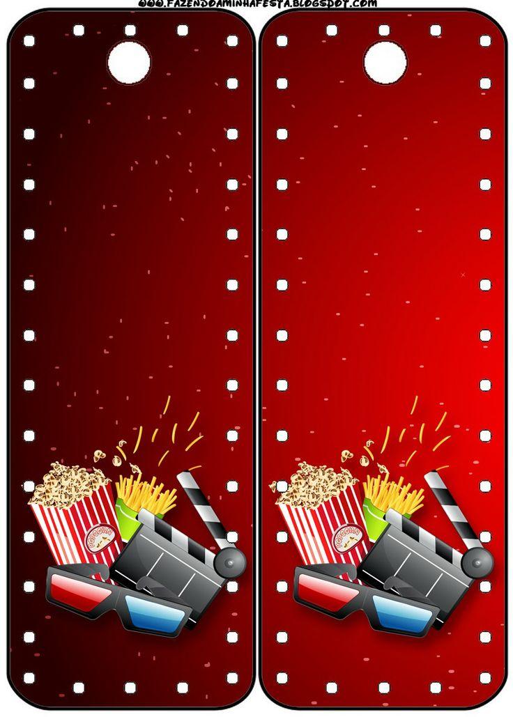 fiesta de cine  invitaciones y tarjeter u00eda para imprimir