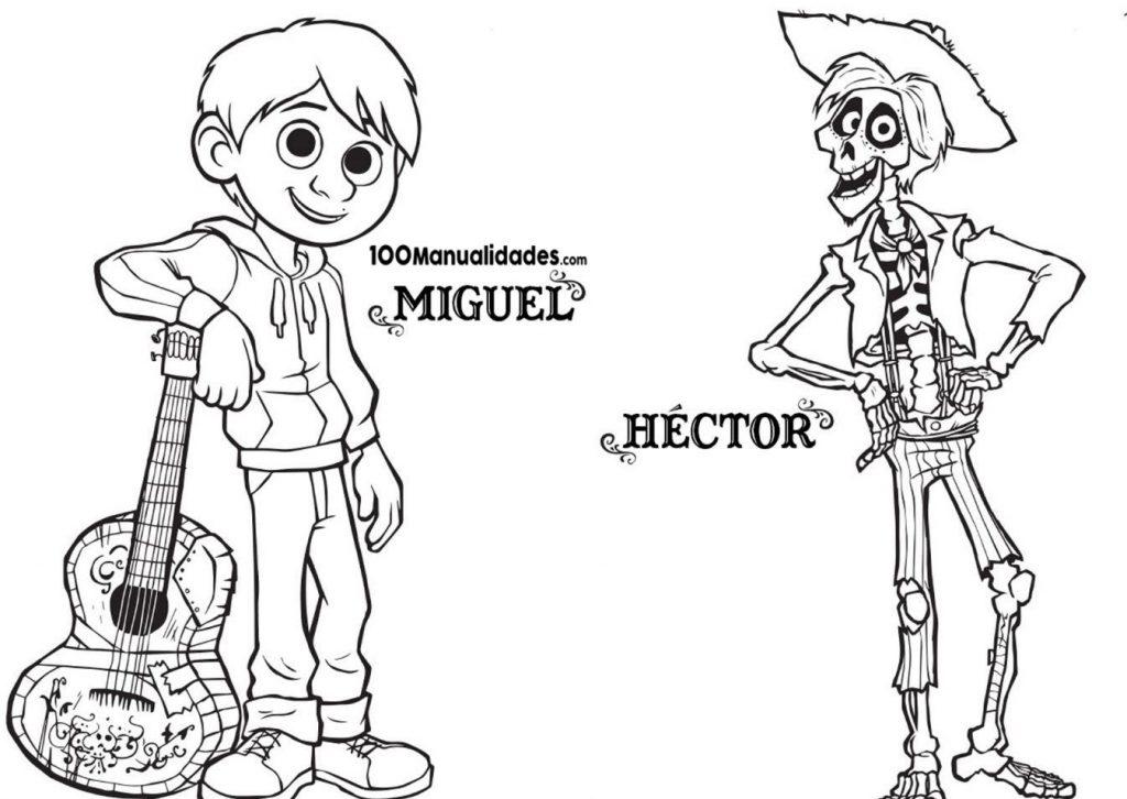 Miguel Coco Para Colorear: Coco Para Dibujar Imprimir Y Pintar